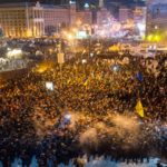 Picture of Euromaidan protest in Ukraine.