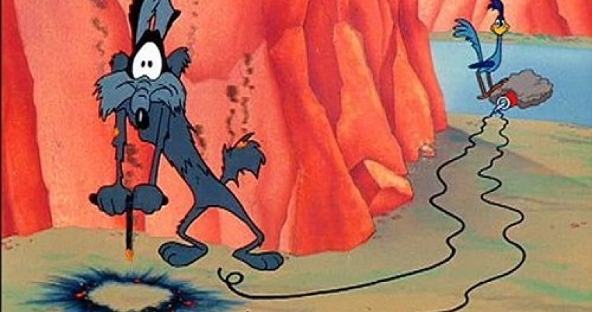 Wile-E Coyote Blows Himself Up